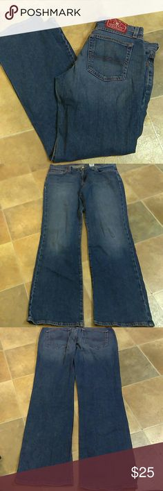 """🍀 Lucky Brand Dungarees of America Lucky Brand Dungarees of America Too Tough To Die Jeans in a Size 12/31 per Tag.  Approx. Measurements are as follows: Waist to Hem 41.5"""" Waist Across 18"""" Hem Width 9.5"""" Lucky Brand Jeans"""