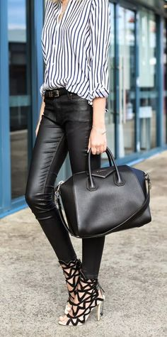 Lining Shirt With Stripes Leather Killer Shoes