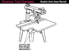 Recall of old Craftsman radial arm saws