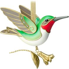 This 2014 Hallmark Keepsake Ornament is a Hallmark Gold Crown Exclusive. in the Beauty of Birds series A hummingbird with gold accents and a ruby throat and pale green accents. Size: 3 x 3 x Kitchen Ornaments, Hallmark Christmas Ornaments, Hallmark Keepsake Ornaments, Christmas Decorations, Christmas 2014, Merry Christmas, Ornament Hooks, Bird Ornaments, Beauty