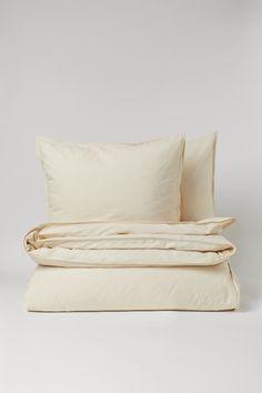 Beige Duvet Covers, Double Duvet Covers, Duvet Cover Sets, H & M Home, Cotton Duvet, Cotton Fabric, Queen Duvet, Light Beige, Fashion Company