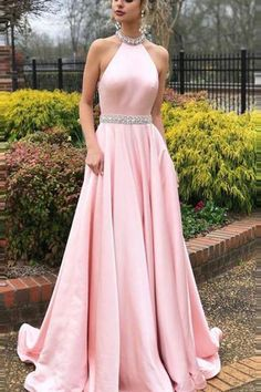 13b95276ca648 Halter Back Lucy Maxi Gown Dress – Myladystyle Homecoming Dresses, Prom  Dresses Light Pink,