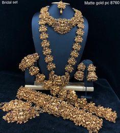 To buy please WhatsApp on 9703870603 #jewellery #mattfinish #Jhumkas #Earrings #Bhajuband #Hipbelts #Tikka #Champaswaralu #1gramjewellery #guarentee #necklace #kasulaperu #CZNecklace #bridalsets #pendantwithearrings #pendantsets #CZSets #blackbeads #onegramjewellery #onegram #Southindianjewellery #Bangles #newcollection #kamarapatti #kamarapatta #vanki
