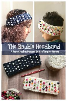 The Bauble Headband: A Free Crochet Pattern - Crafting for Weeks Crochet Gifts, Cute Crochet, Beautiful Crochet, Granny Square Crochet Pattern, Crochet Patterns, Scarf Patterns, Crochet Designs, Crochet Stitches, Crochet Headband Pattern
