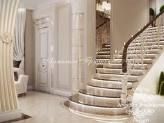 Home Stairs Design, House Design, Stair Design, Luxury Home Decor, Luxury Homes, Hotel Bedroom Design, Flur Design, French Interior Design, House Stairs