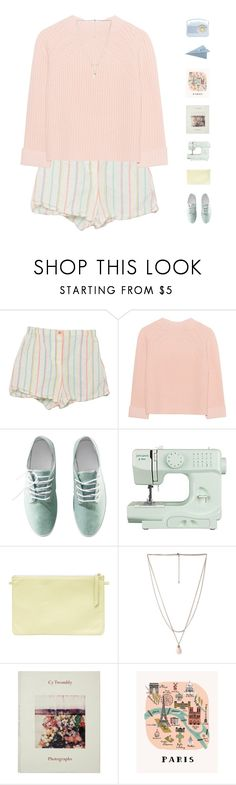"""PAPER PLANES CRASH DOWN BUT I WILL SOAR HIGH"" by blissbell ❤ liked on Polyvore featuring iHeart, H&M, John Lewis, Forever 21, Rifle Paper Co and CB2"