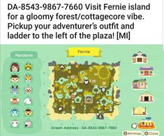 Animal Crossing Guide, Animal Crossing Villagers, Animal Crossing Qr Codes Clothes, Animal Crossing Pocket Camp, Animal Games, My Animal, Dream Code, Ac New Leaf, Cute Games