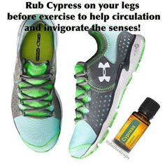 Circulation Blend - Cypress essential oil is known for helping circulation, and improve vitality and energy. Rub it on your legs, arms, or chest before exercise to give you an energizing boost!