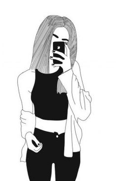Girl tumbler cute drawings of girls, cute sketches of couples, drawings of faces, Tumblr Outline, Outline Art, Outline Drawings, Easy Drawings, Pencil Drawings, Tumblr Girl Drawing, Tumblr Drawings, Tumblr Art, Cute Girl Drawing