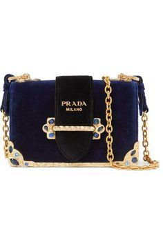 7764bce2499a PRADA .  prada  bags  shoulder bags  crystal  velvet    navyhandbags