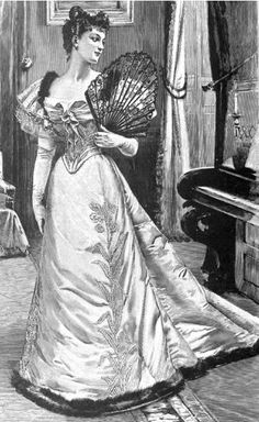 Fashion Image Friday: Charles Frederick Worth evening gown on cover of Harper's Bazar March 17, 1894
