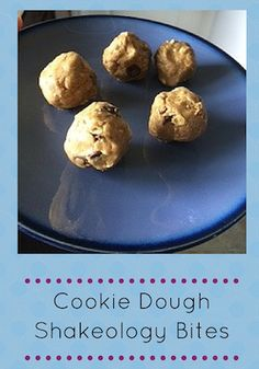 cookie dough bites made with vanilla Shakeology