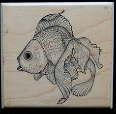 Fantail Goldfish Rubber Stamp | Scrapbook Cards | Paper Craft Supply by ClassicEndearments on Etsy