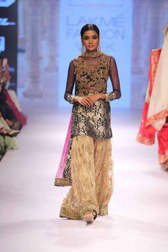 Love this long kurta sharara type look. Seen at Lakme Fashion Week 2015