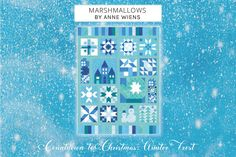 Quilt Patterns Free, Fabric Patterns, Quilting Tutorials, Quilting Ideas, Winter Quilts, Day For Night, Christmas Countdown, Winter Theme, So Little Time
