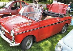 antique Fiat convertible and other mini car adorableness.