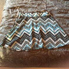 Tribal Skater Skirt Never worn! Size says large but it's definitely a medium fit. Super cute and perfect condition!  Skirts Circle & Skater