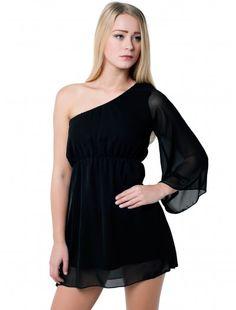 Womens Fashion One Shoulder Black Dress   Wholesale Price: £5.50 tax excl.  #fashionwholesaler #londonfashion #dress #ladiesfashion #onlinefashion #oneshoulder  #newarrival #dresses #shoulder #black