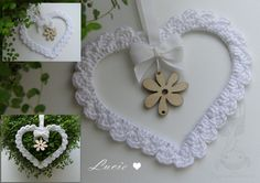 Beautiful crocheted heart...great inspiration!