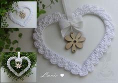 Beautiful crocheted heart...great inspiration!