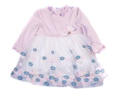 Mayoral Pink and White baby girl dress 6 Month