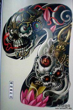 Parallel Paradies deko for Windows Lifarisi Skull Tattoo Design, Skull Tattoos, Body Art Tattoos, Tattoo Designs, Japanese Tatoo, Tatuajes Tattoos, Asian Tattoos, Japan Tattoo, Oriental Tattoo