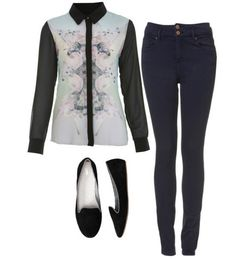 Eleanor inspired outfit with requested top  Top  Jeans  Loafers