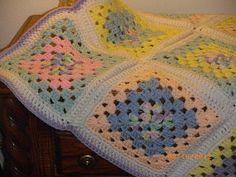 Granny Square Pastel Baby Blanketooak by WLsHandmadeGifts on Etsy, $50.00
