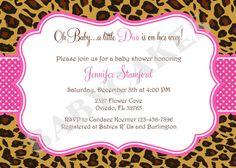 Baby Shower Leopard Pink Printable Invitation Pinterest Babies