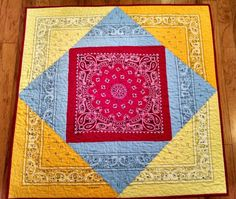 Bandana Quilt for Your Lil' Buckaroo by Creationsbyweezie on Etsy