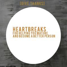 [GIVE THANKS] #ProjectBeautiful #blessings #Heartbreaks  www.projectbeautiful.net