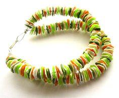 Garrafas plásticas recicladas pulseira hippie colorido, jóias upcycled feito de plástico reaproveitado, boho, ecofriendly