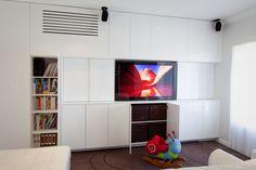 TV unit, Library, Kids Storage unit with hidden Air-con Unit www.kolimcabinets.com.au Bedroom Tv Cabinet, Tv In Bedroom, Kids Bedroom, Kids Storage Units, Tv Cabinets, Tv Unit, Playroom, House Design, Living Room
