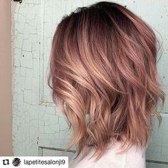 Rose Gold Hair Brunette, Rose Hair, Green Hair, Purple Hair, Straight Hairstyles, Girl Hairstyles, Color Melting Hair, Hair Shadow, Hair Junkie