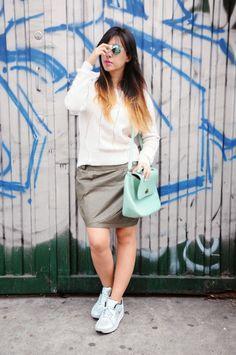 Sneakers + miniskirt! Watch the full post here > http://shar.es/BBkBT