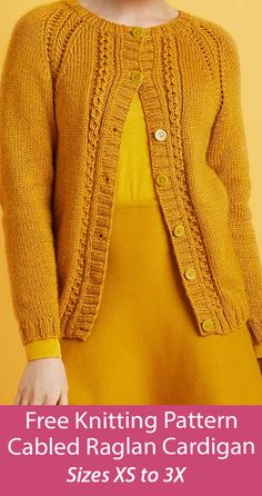 Free Knitting Patterns For Women, Cable Knitting Patterns, Lace Knitting, Knitting Socks, Crochet Patterns, Cardigan Design, Knit Cardigan Pattern, Girls Sweater Dress, Quick Knits