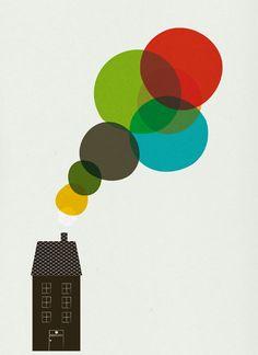 Smoke print, cosas minimas by Blanca Gomez, via Etsy. Illustrations, Illustration Art, Sibylla Merian, Design Art, Graphic Design, Creative Design, Poster Prints, Art Prints, Light Texture