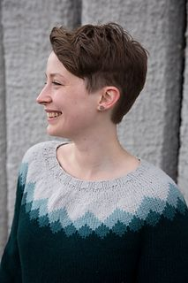 Ravelry: Mountain Mist pattern by tincanknits Fair Isle Knitting Patterns, Fair Isle Pattern, Sweater Knitting Patterns, Knitting Yarn, Knit Patterns, Hand Knitting, Icelandic Sweaters, Knit Sweaters, Subtle Ombre
