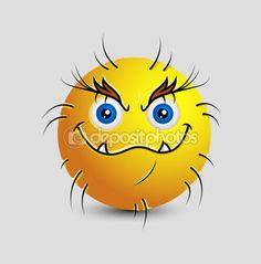 Wild Moron Beast Smiley — Stock Illustration #98039906