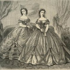 Ladies Of The 1860s: La Modes Illustree for January 1862