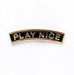 'Play Nice' Pin