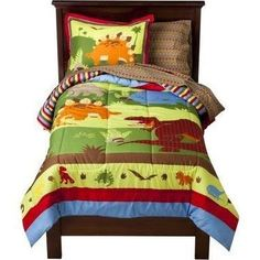 Circo® Roar n Stomp Collection for Nates big boy room :) I used the wrong pic oops he has a twin bed and I wanna get the quilt set lol my bad Dinosaur Bedding, Dinosaur Bedroom, Full Comforter Sets, Bedding Sets, Bed Sets, Target Bedding, Cool Kids Rooms, Bed In A Bag, Girls Bedroom