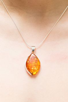 Large amber pendant amber necklace silver necklace amber stone golden amber necklace baltic amber pendant golden amber amber pendant amber jewellery aloadofball Choice Image