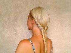 Easy fishtail braid hairstyles for medium long hair Greek goddess hair tutorial