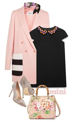 """""""Look # 652"""" by lookat ❤ liked on Polyvore featuring MaxMara, Gucci, Manolo Blahnik, Dolce&Gabbana and Minime"""