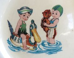 Vintage Canonsburg Child's Plate Little Boys by WiseParrot Vintage Beach Party, Go Tv, Vintage Children, Little Boys, Vintage Shops, Children Pictures, Etsy Shop, Trending Outfits, Handmade Gifts