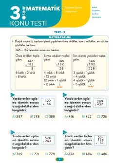 3. Sınıf Yaprak Test Matematik İpucu Books, Livros, Libros, Book, Book Illustrations, Libri