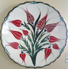 Cüneyt Canatan Turkish Art, Turkish Tiles, Islamic Tiles, Islamic Art, Pottery Painting Designs, Paint Designs, Indian Flowers, Geometric Tiles, Ceramic Figures