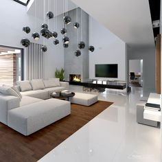 40 Luxury Living Room Design Ideas With Modern Accent Living Room Modern, Home Living Room, Living Room Designs, Living Room Decor, Small Living, Modern House Design, Modern Houses, Luxury Living, Home Interior Design