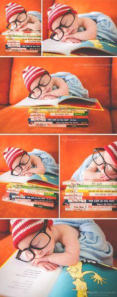 Newborn Photography | Dr. Seuss | Hipster Newborn | Taylor Marie Photography | www.taylor-marie.com | Phoenix, AZ